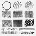 Vector set of line grunge brushes textures.
