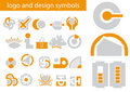 Vector set of logo and design symbols Stock Photos