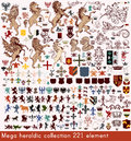 Vector set of luxury royal vintage elements for your heraldic de mega collection in antique style element design Royalty Free Stock Images