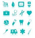 Vector set medical icons white background Royalty Free Stock Image