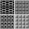 Vector set with metal seamless patterns Stock Image