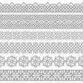 Vector set of monochrome divayder