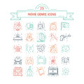 Vector set of movie genres Royalty Free Stock Photo