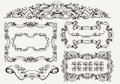 Vector set ornate vintage frames and page decoration Stock Images