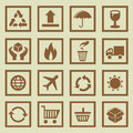 Vector set of package signs and symbols delivery logistics Royalty Free Stock Images