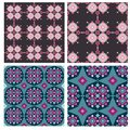 Vector set of patterns Stock Photography