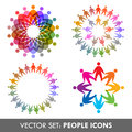 Vector set of people icons Royalty Free Stock Photography