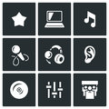 Vector Set of Perfomance Icons.