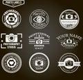 Vector set of photography logo templates. Photo