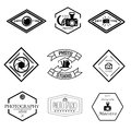 Vector set of photography and logo templates
