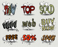 Vector set of price tags Stock Photo