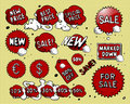 Vector set of price tags Stock Photos