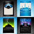 Vector set of ramadan kareem festival brochure design