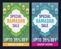 Vector set of Ramadan Kareem sale banner