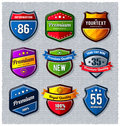 Vector set of retro badges Royalty Free Stock Photo