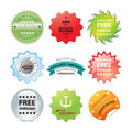 Vector set of retro badges labels and buttons icons eps Stock Photo