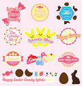 Vector Set: Retro Easter Candy Labels Royalty Free Stock Images