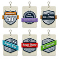 Vector set of retro labels Royalty Free Stock Images