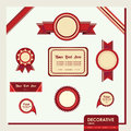 Vector set of retro labels Royalty Free Stock Photos