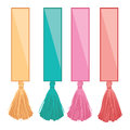 Vector Set of Ribbons With Colorful Decorative Tassels Elements. Great for handmade cards, invitations, wallpaper