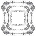 Vector set Rococo frame
