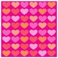 Vector set Romantic pattern with Yellow orange hearts