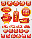 Vector Set of Sale and Promotion Labels and Badges Stock Photography
