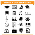 Vector set of school and education icons and design elements for college academy or other educational institution illustration on Royalty Free Stock Photo