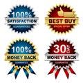 Vector Set of Seals Royalty Free Stock Photo