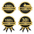 Vector Set of Seals, Money Back, Satisfaction... Royalty Free Stock Image