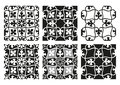 Vector set of seamless floral patterns black and white vintage backgrounds Royalty Free Stock Photo