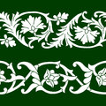 Vector set of seamless floral patterns tape in ethnic national style of Uzbekistan. Royalty Free Stock Photo