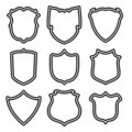 Vector set of shields Royalty Free Stock Photography