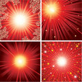 Vector set of shining backgrounds Stock Photo