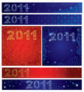 Vector set of shining Christmas backgroun 2011 Royalty Free Stock Photo