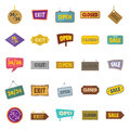 Newspapers, a bus stop, a mail box, a billboard.Advertising,set collection icons in monochrome style vector symbol stock