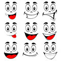 Vector of set smiling faces Royalty Free Stock Photo