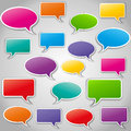 Vector set of speech bubbles illustration colorful abstract Stock Image