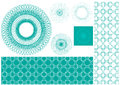Vector set of spirographs for certificate background certificates coupons vouchers posters tickets or cards Stock Image