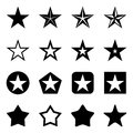 Vector Set of Star Icons Royalty Free Stock Photo