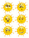 Vector set of sun mimic miens Stock Photography