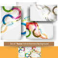 Vector set of teaser advertisement background Royalty Free Stock Images