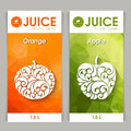 Vector set of templates packaging fruit juice