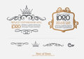 Vector set: thai art design elements and page decoration Royalty Free Stock Photo
