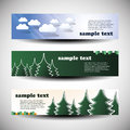 Vector Set of Three Header Designs Royalty Free Stock Photo