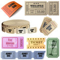 Vector set of tickets Royalty Free Stock Image