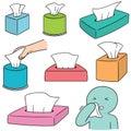 Vector set of tissue box Royalty Free Stock Photo