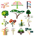 Vector set of tree infographic design templates this is file eps format Royalty Free Stock Photo