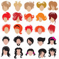 Vector set of trendy hair styling icons Stock Photo