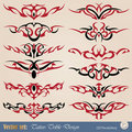 Vector set tribal tattoo Royalty Free Stock Image